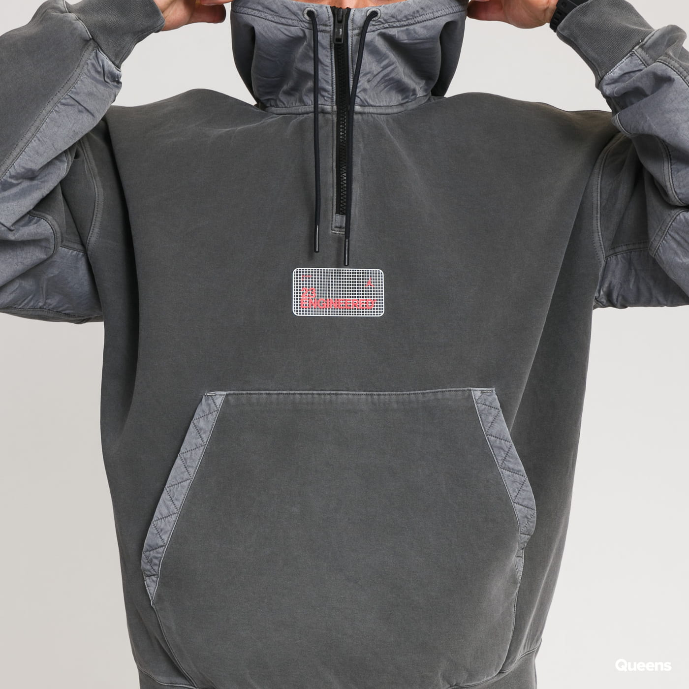 Jordan M J 23ENG Fleece PO Hoodie dark gray