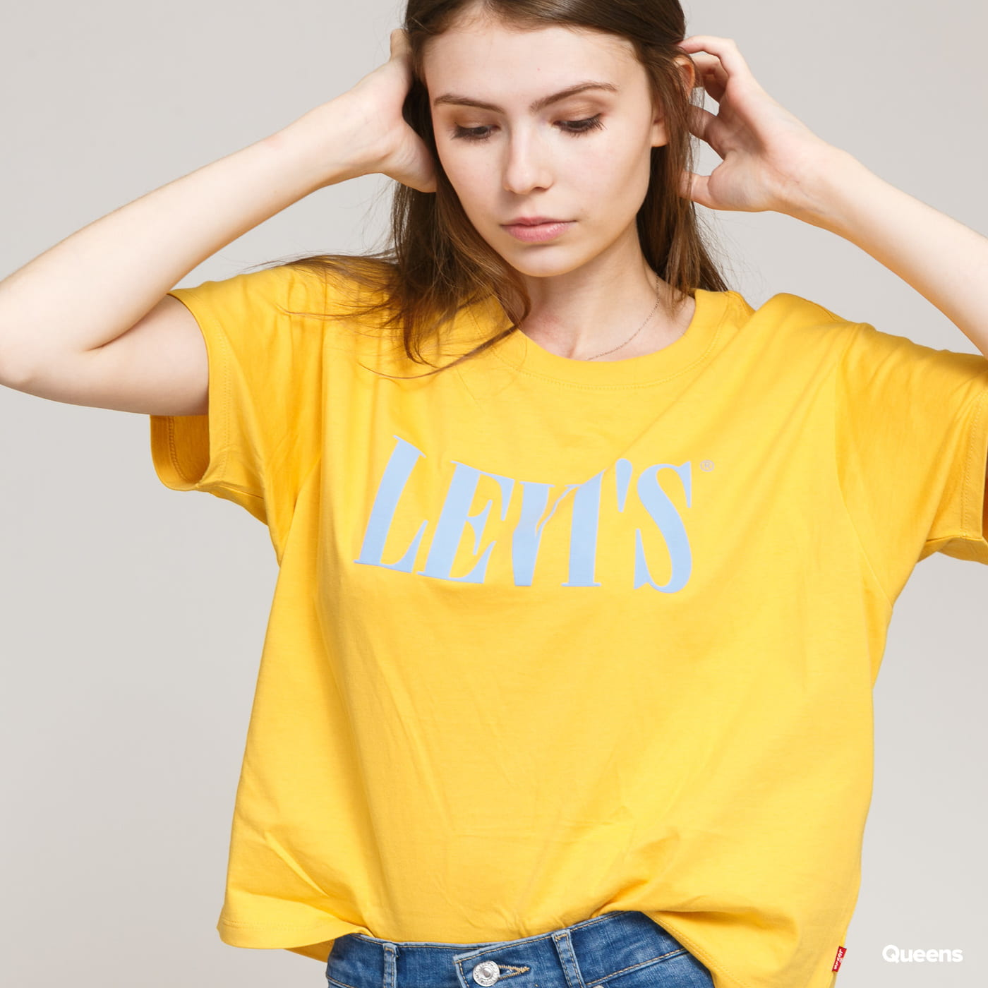 Levi's ® W Graphic Varsity Tee yellow / light blue
