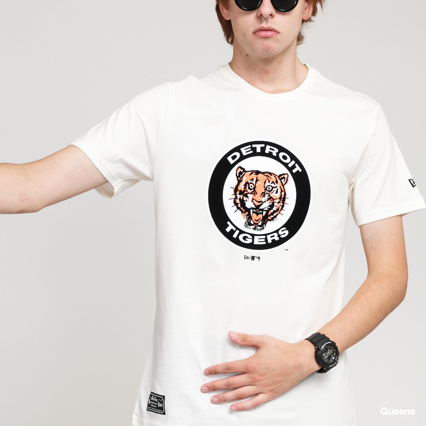 New Era MLB Cooperstown Tee Detroit Tigers krémové