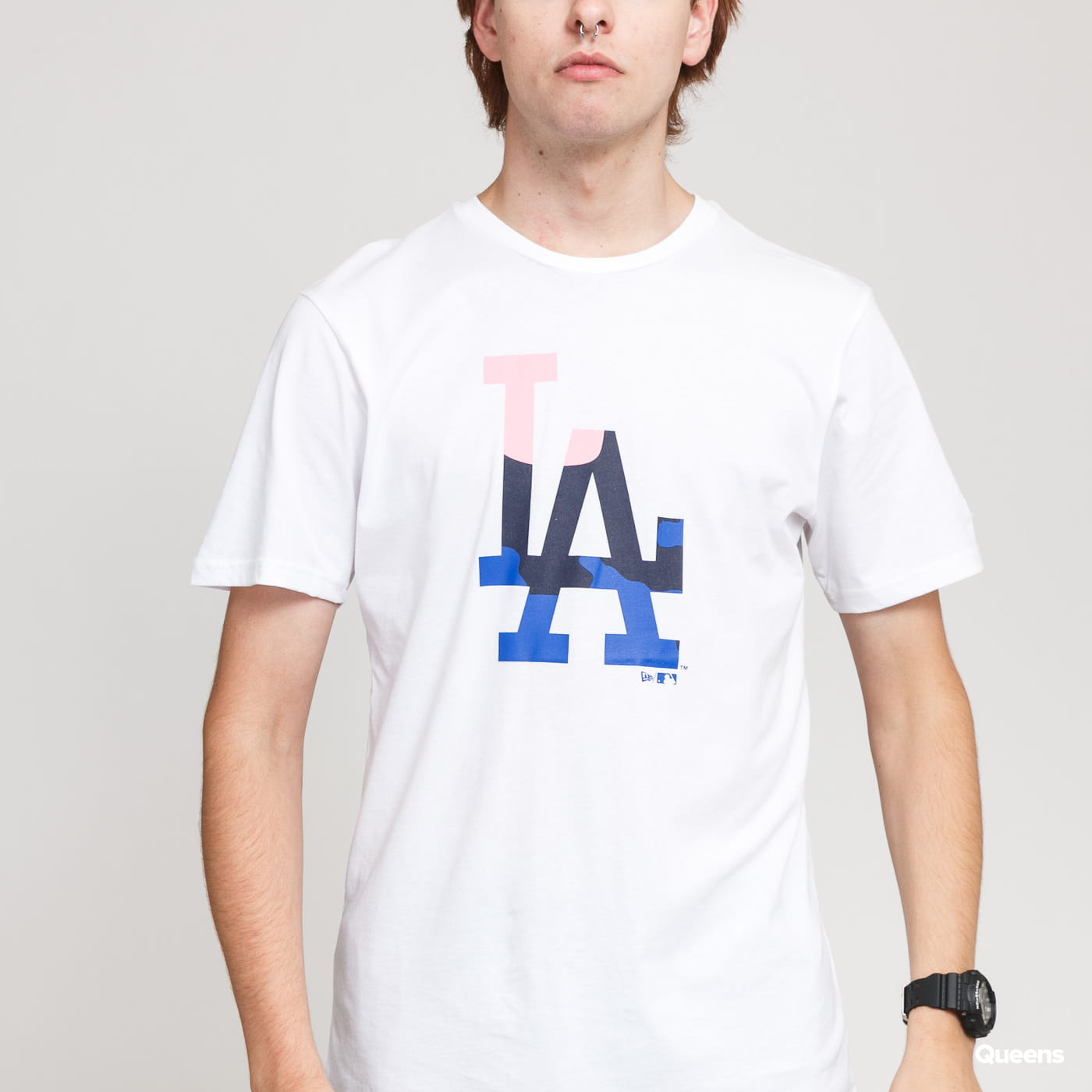 New Era MLB Ext Camo Infill Tee LA blue / turquoise