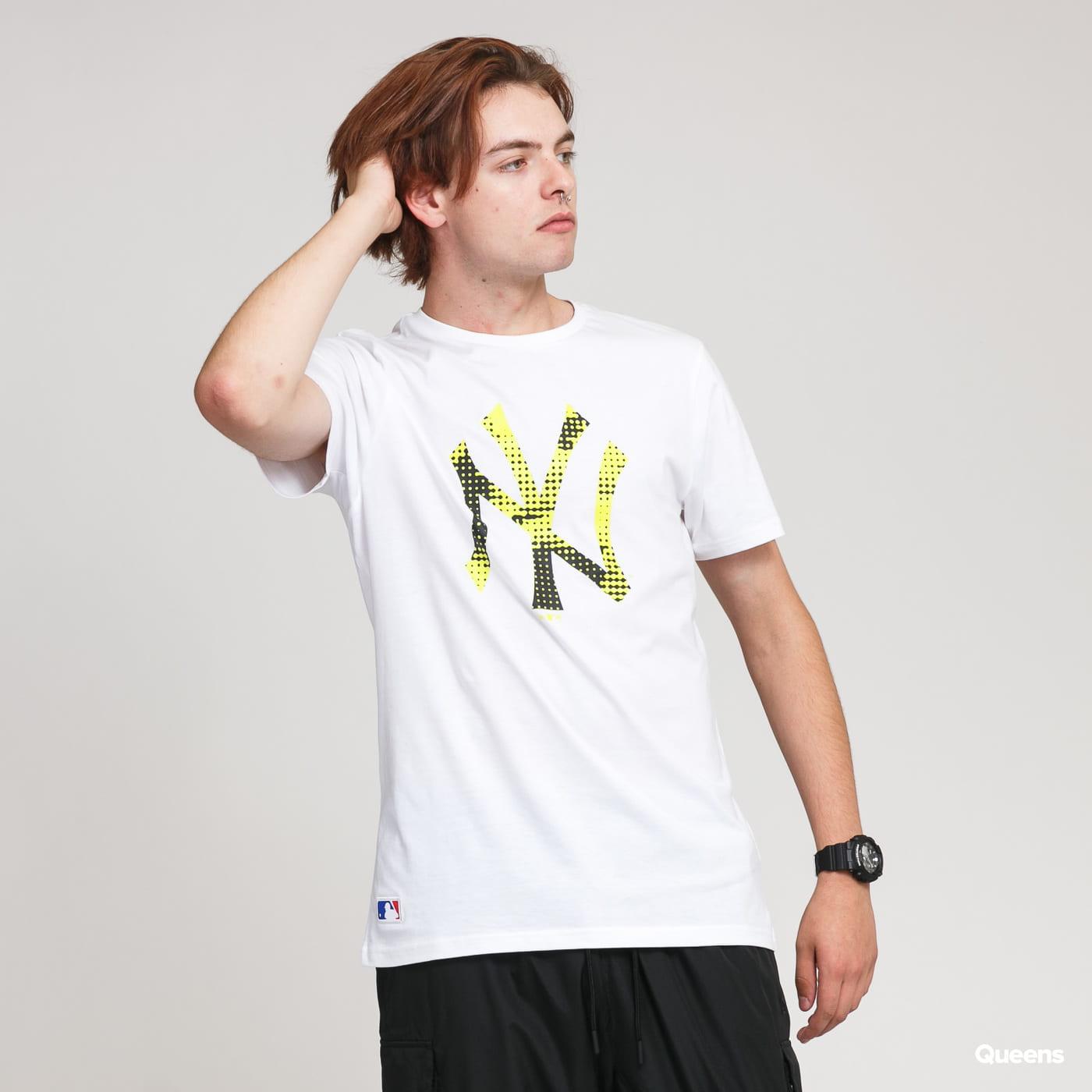 New Era MLB Infill Team Logo Tee NY bílé / limetkové / černé