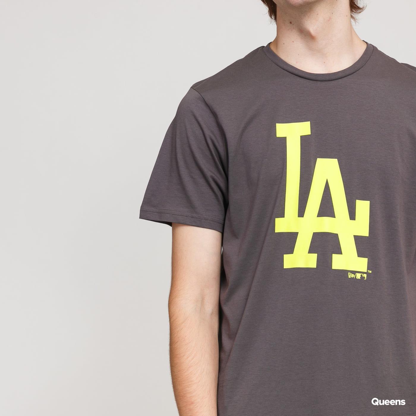 New Era MLB Seasonal Team Logo Tee LA dark gray