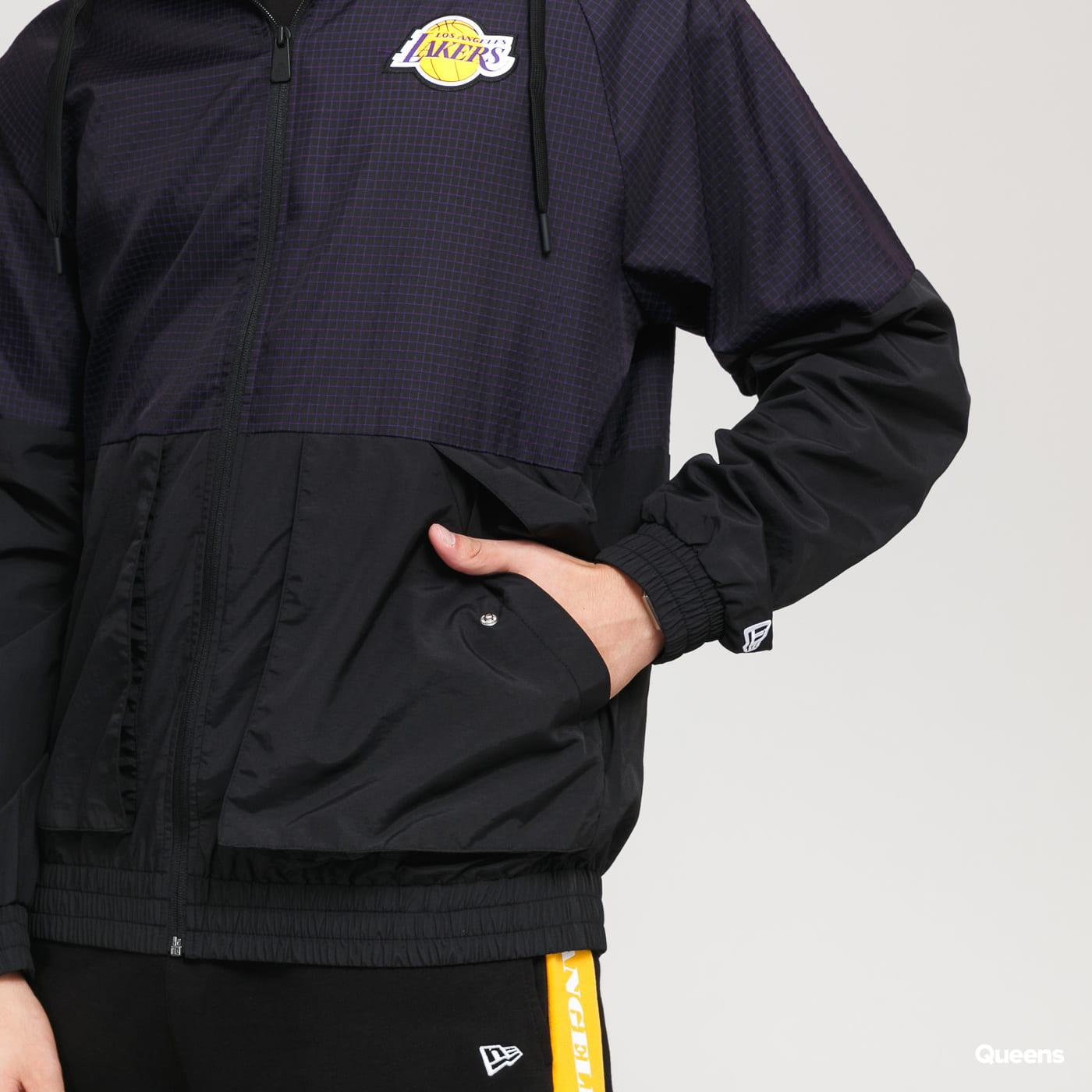 New Era NBA Check Ripstop Windbreaker LA Lakers černá / fialová