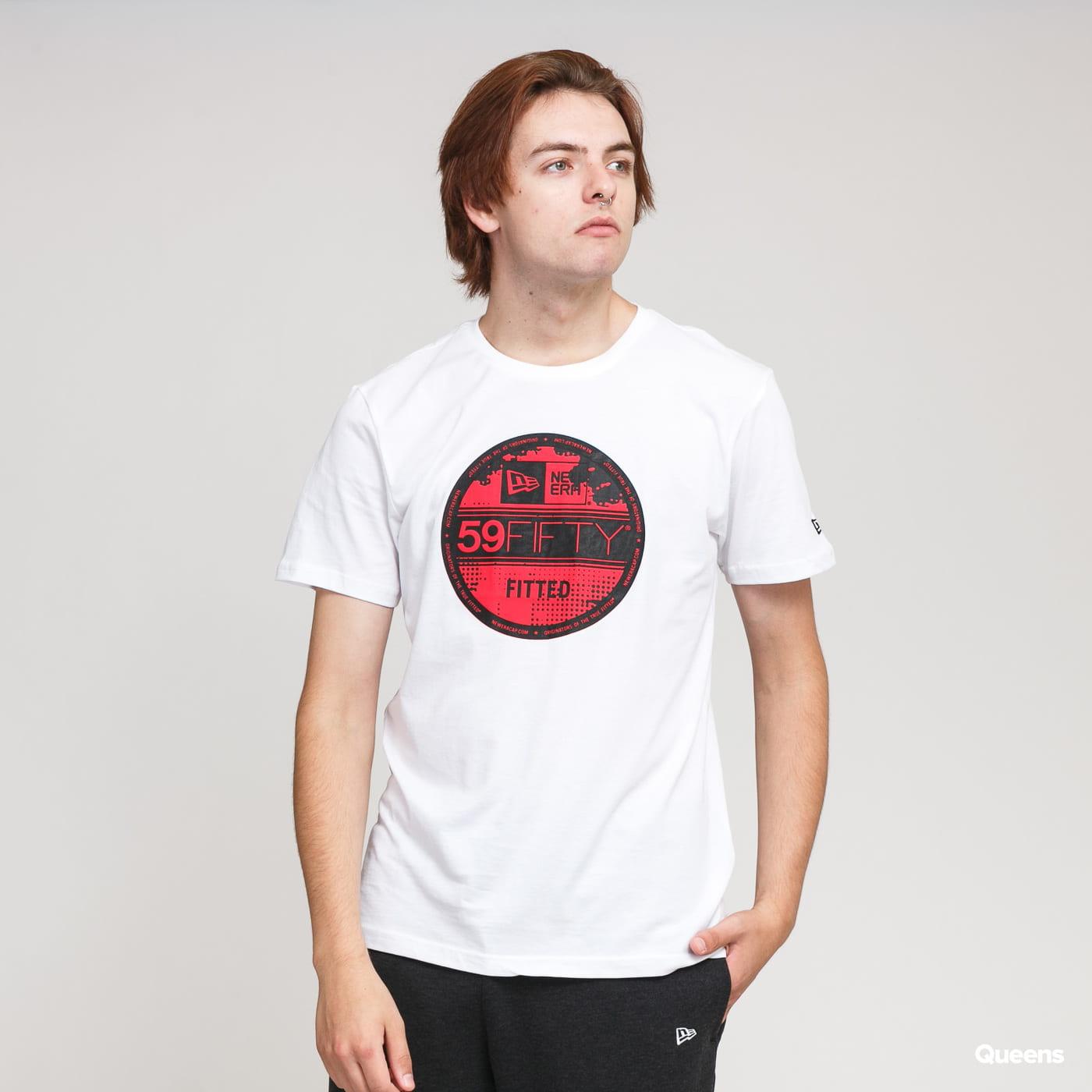 New Era Visor Sticker Tee New Era white / black / red