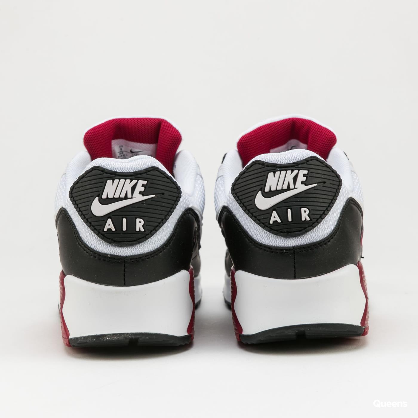 Nike Air Max 90 white / white - new maroon - black