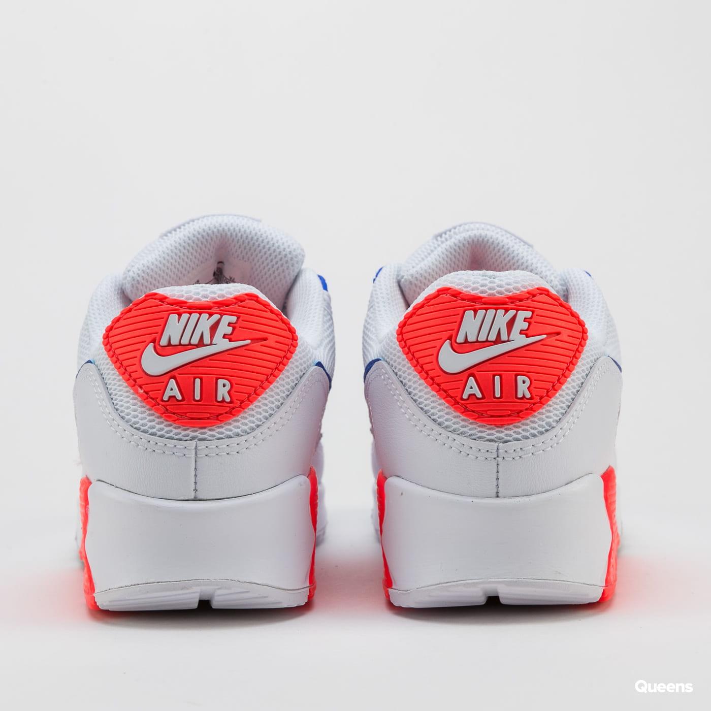 Nike W Air Max 90 white / racer blue - flash crimson