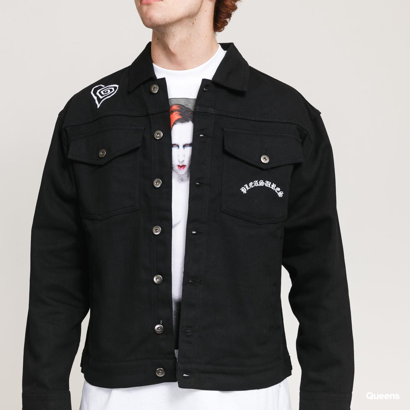 PLEASURES Manson Trucker Jacket black