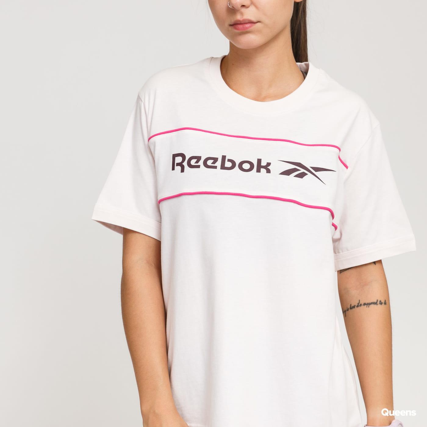 Reebok Classic F Linear Tee světle růžové