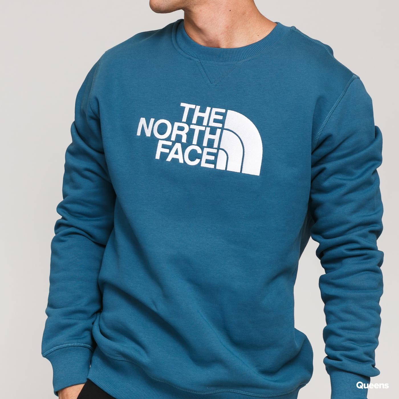 The North Face M Drew Peak Crew dark turquoise