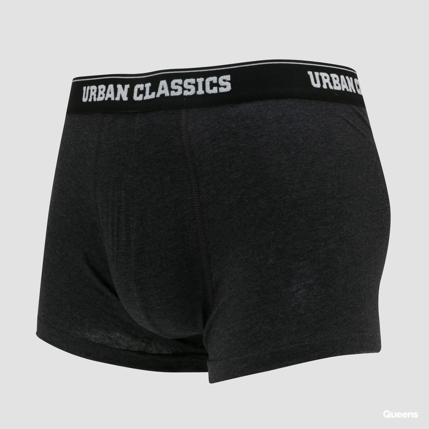 Urban Classics Boxer Shorts 5-Pack černé / bílé / tmavě šedé / tmavě zelené