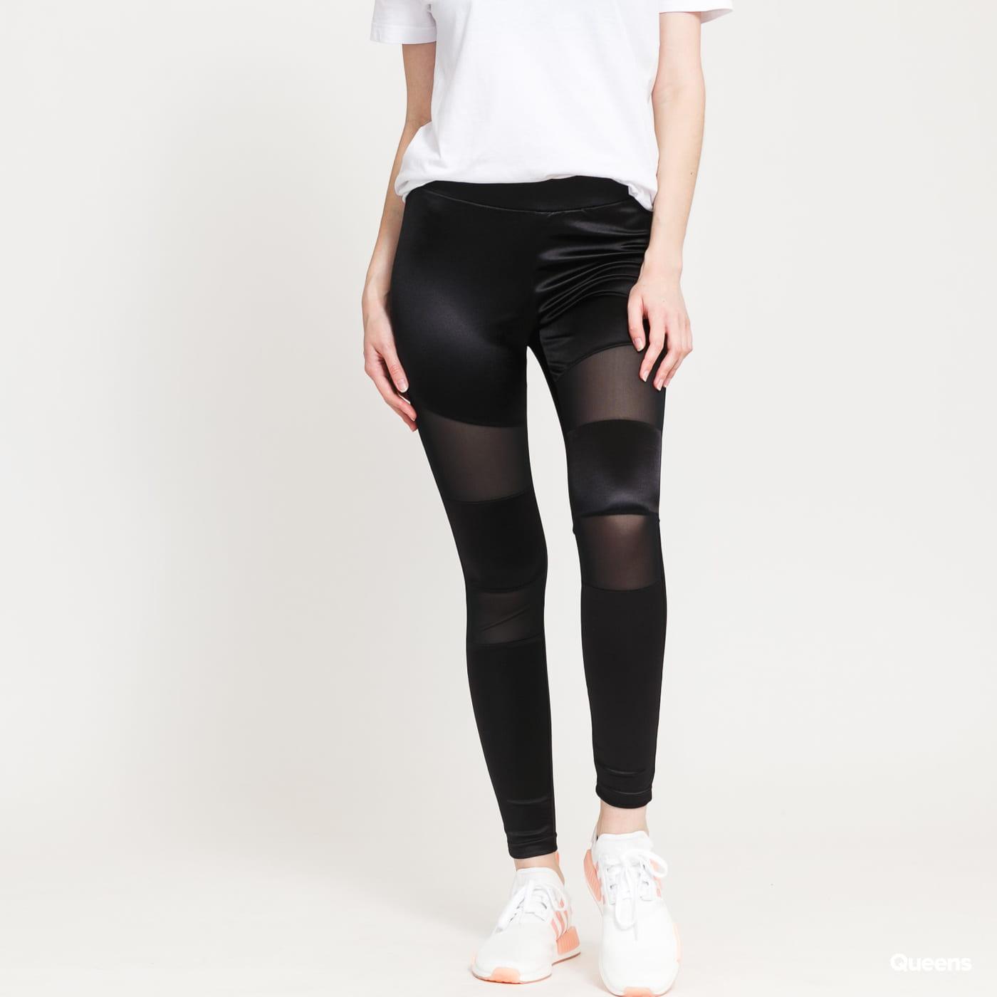 Urban Classics Ladies Shiny Tech Mesh Leggings černé