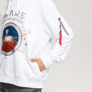 Alpha Industries Mission To Mars Hoody bílá