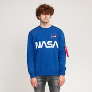 Alpha Industries NASA Reflective Sweater modrá