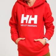 Helly Hansen W HH Logo Hoodie červená