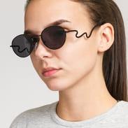 Jeepers Peepers Black Round Sunglasses černé
