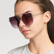 Jeepers Peepers Flat Sunglasses hnědé / stříbrné