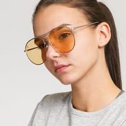 Jeepers Peepers Round Sunglasses žluté / stříbrné