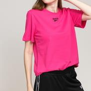 Reebok Classics Small Logo Tee dark pink