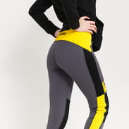 The North Face W Steep Tech Fleece Tight tmavě šedé / černé / žluté