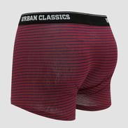 Urban Classics Boxer Shorts 5-Pack černé / bílé / vínové / navy