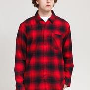 Urban Classics Oversized Checked Grunde Shirt red / black