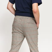 Urban Classics Tapered Check Jogger Pants krémové / černé / vínové