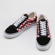 Vans Old Skool (blur check) true white / red