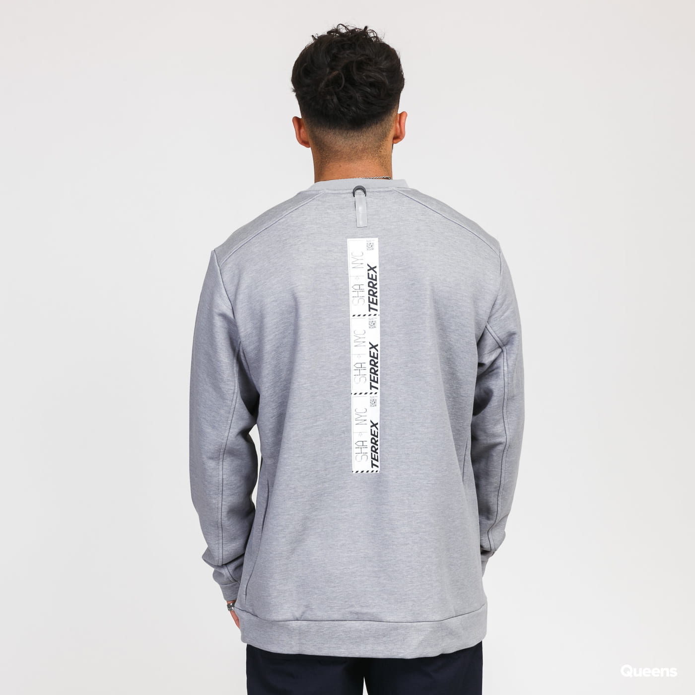 adidas Performance Cap Crew Sweat šedá / bílá
