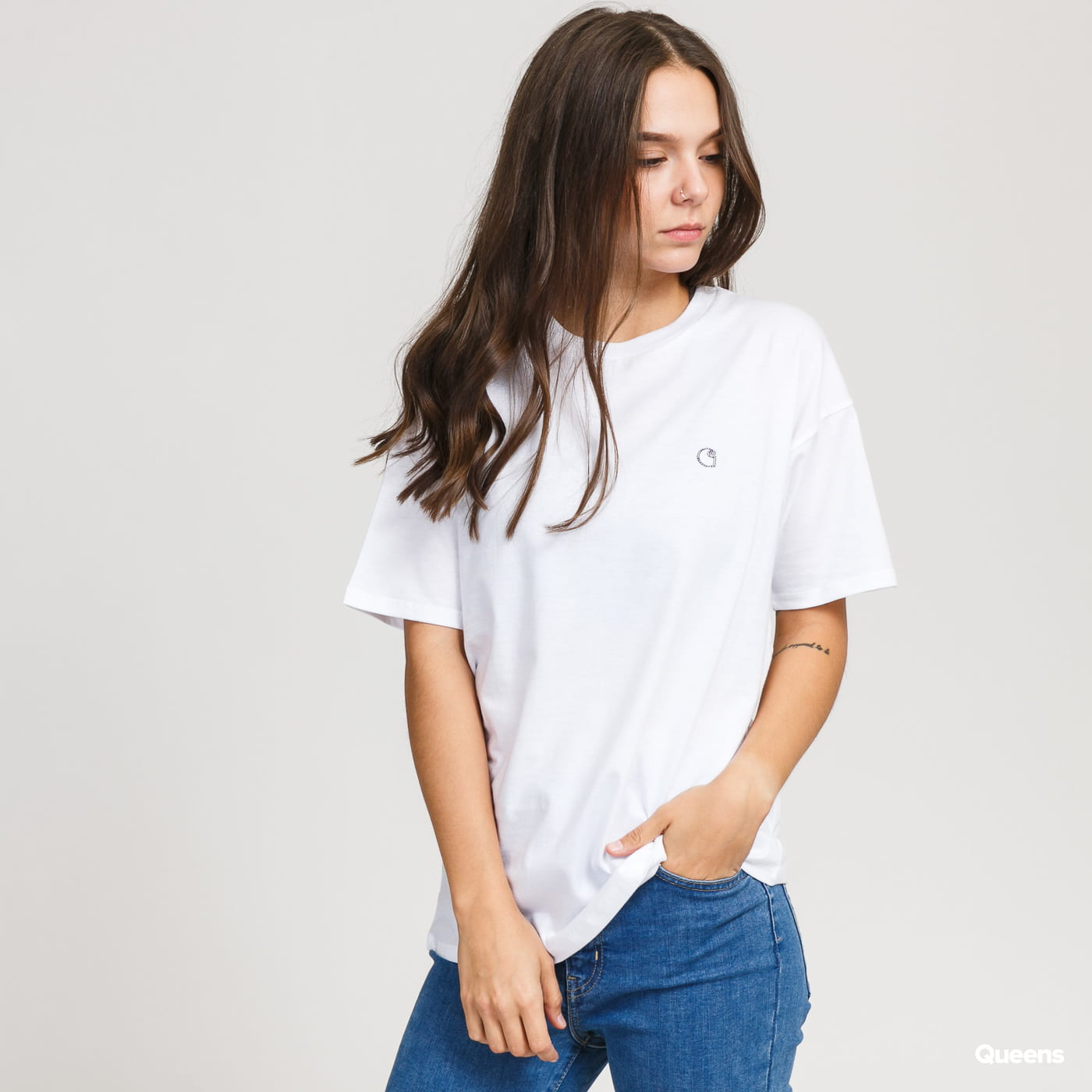 Carhartt WIP W SS Commission Logo Tee blue / turquoise