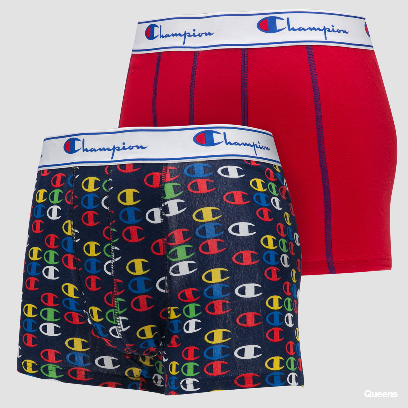 Champion Boxery Mix 2Pack red / navy / multicolor