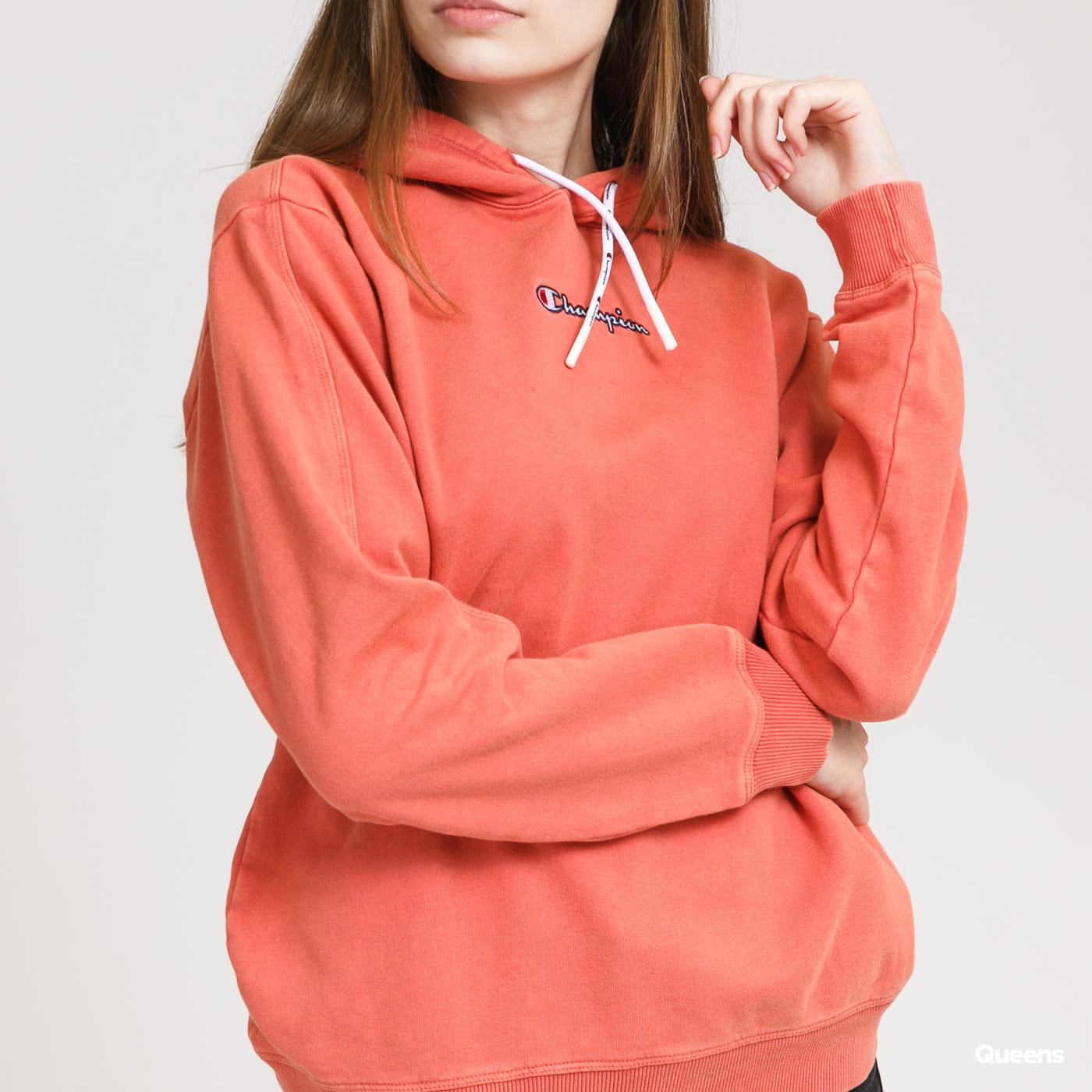 Champion Cropped Hooded Sweatshirt lososová
