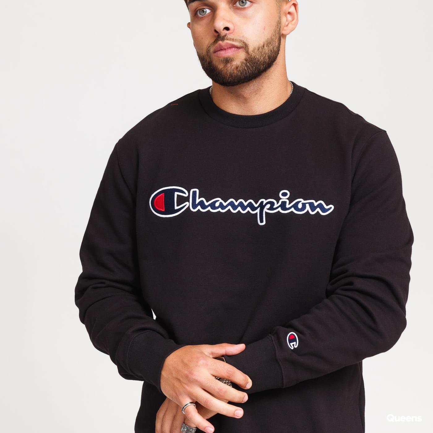 Champion Script Logo Crewneck black
