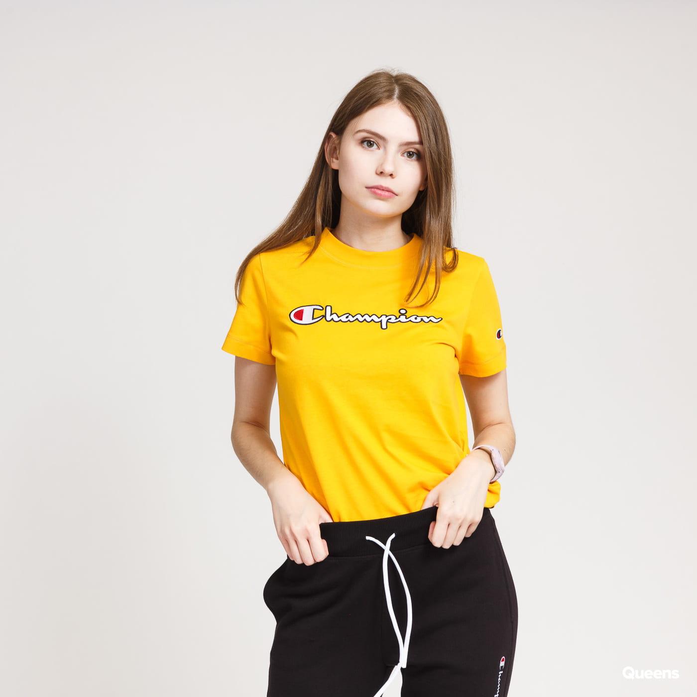 Champion Script Logo Crewneck Tee yellow