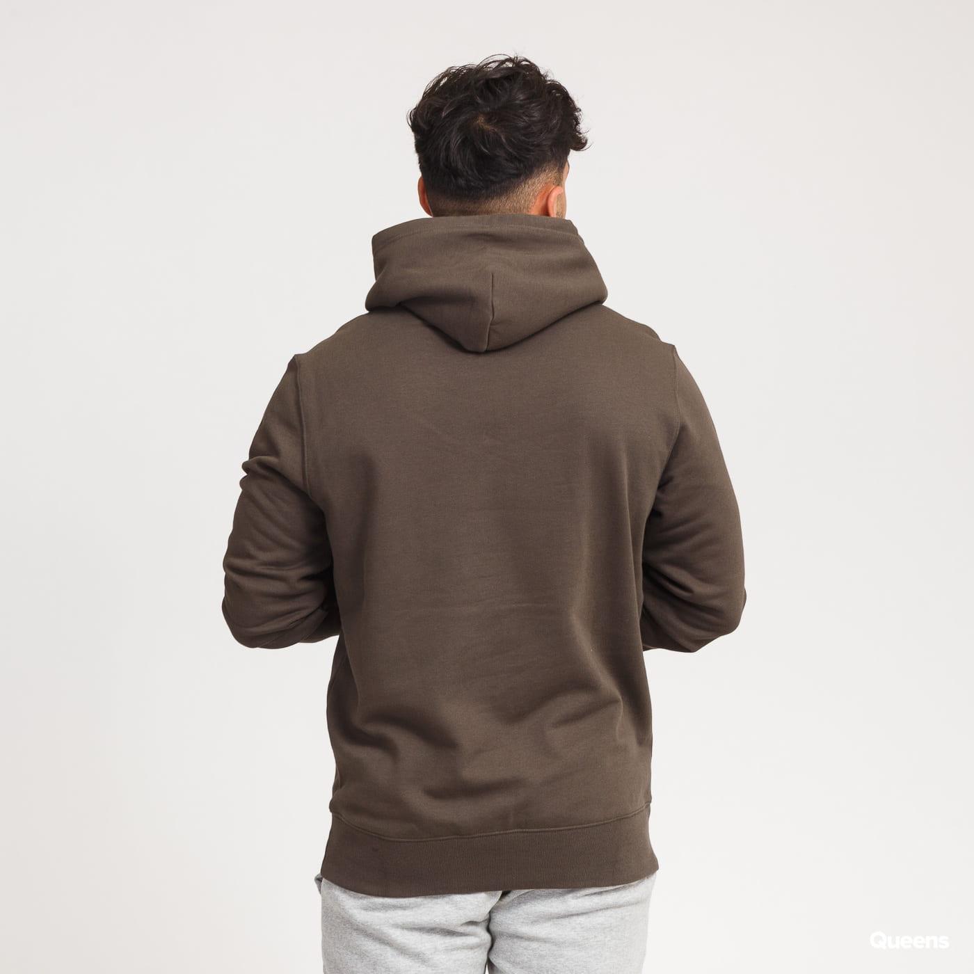Champion Script Logo Hooded Sweatshirt dark olive