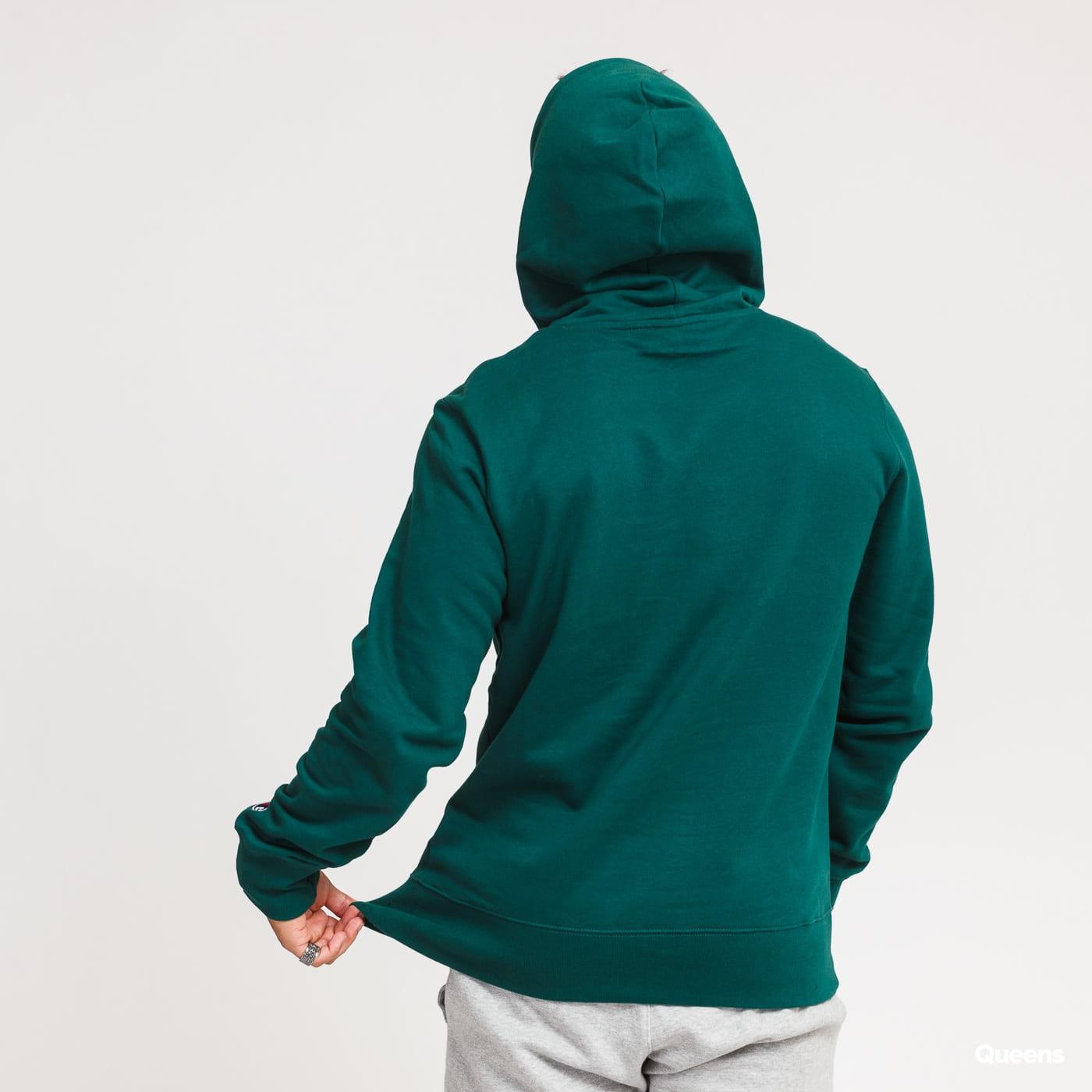 Champion Script Logo Hooded Sweatshirt dark green