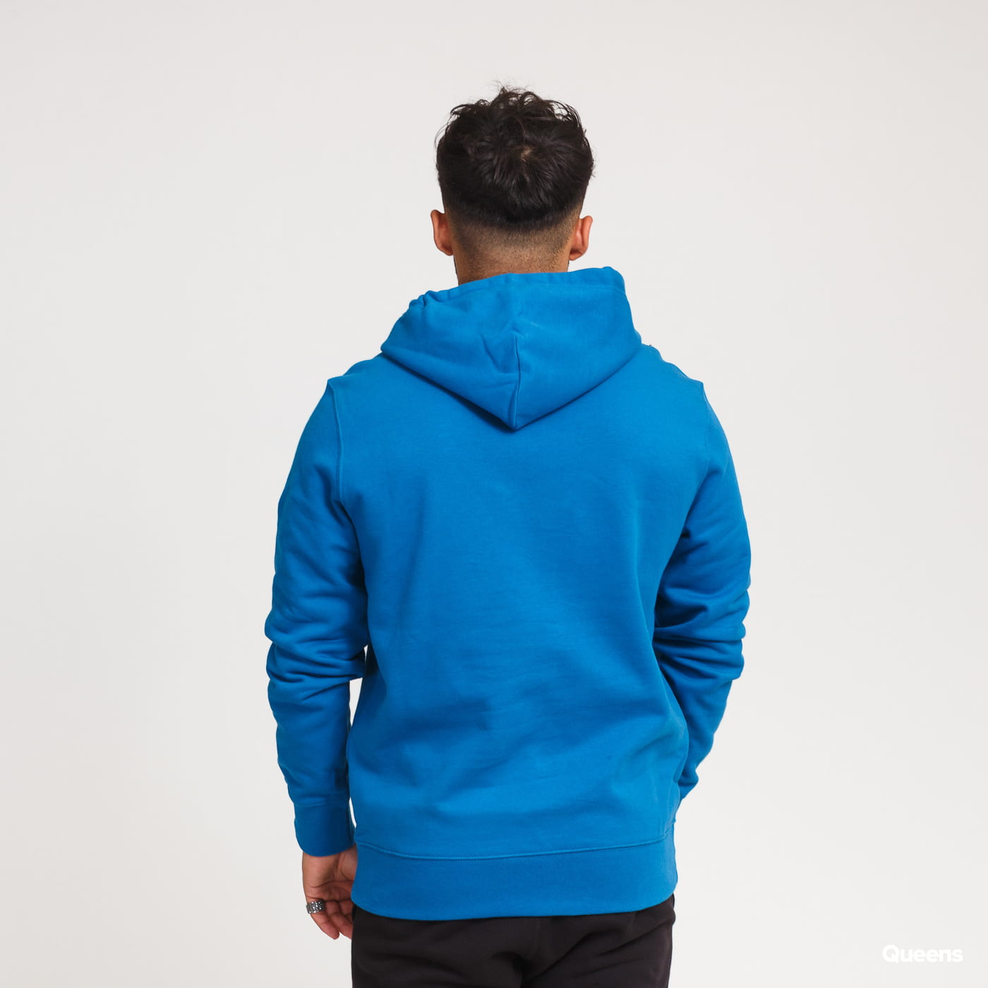Champion Small Script Logo Hooded Sweatshirt blue
