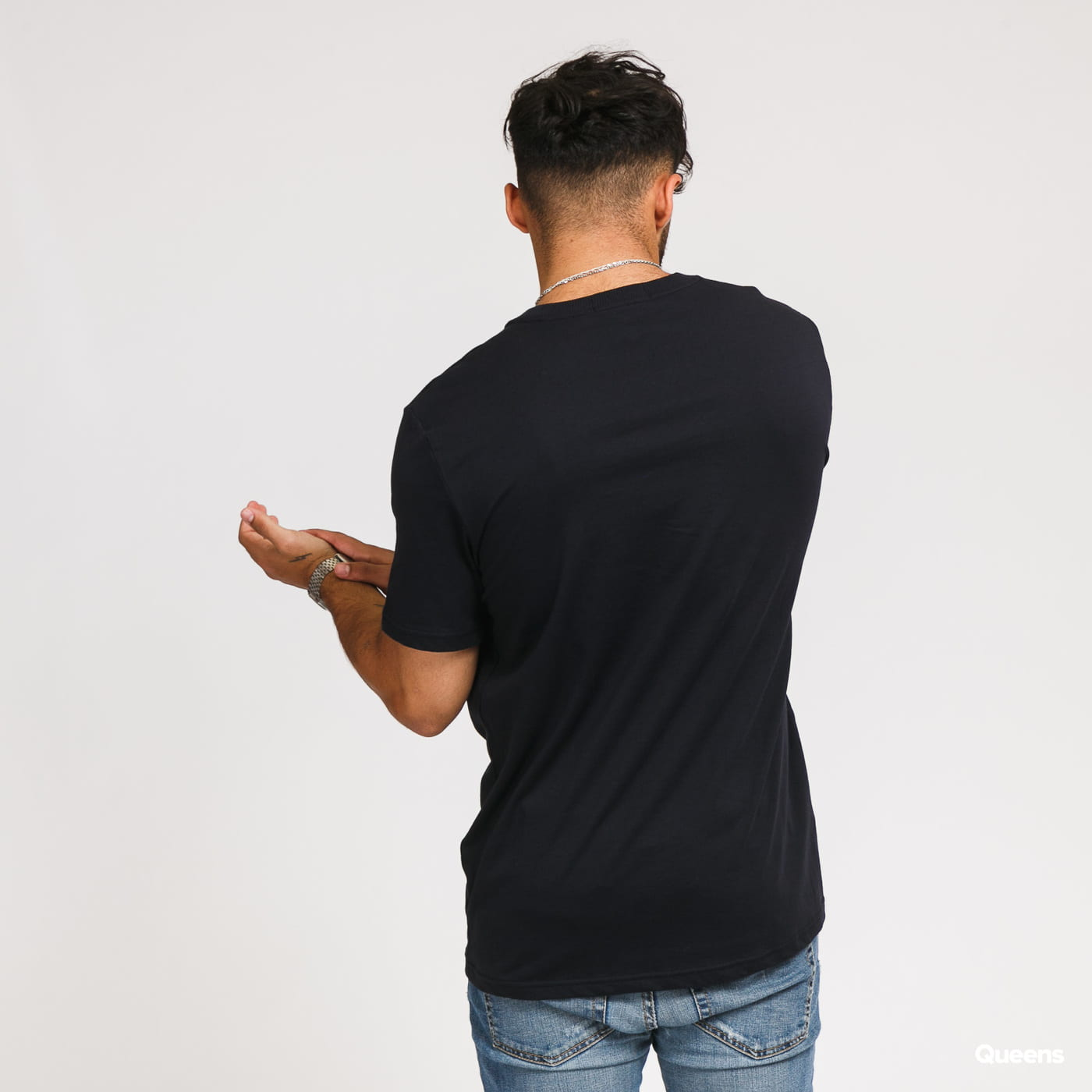 FRED PERRY Tipped Graphic Tee nava
