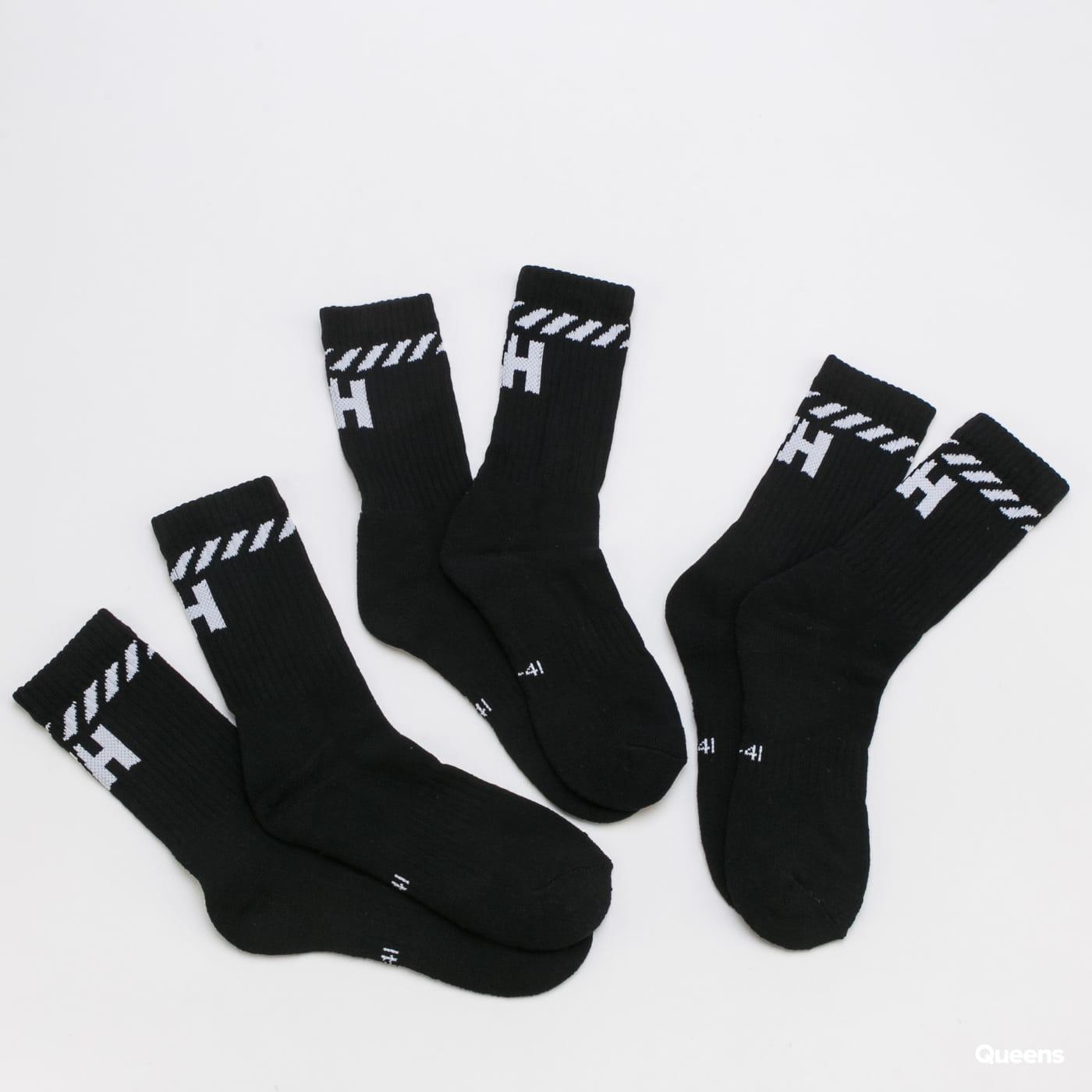 Helly Hansen 3Pack Cotton Sport Sock černé