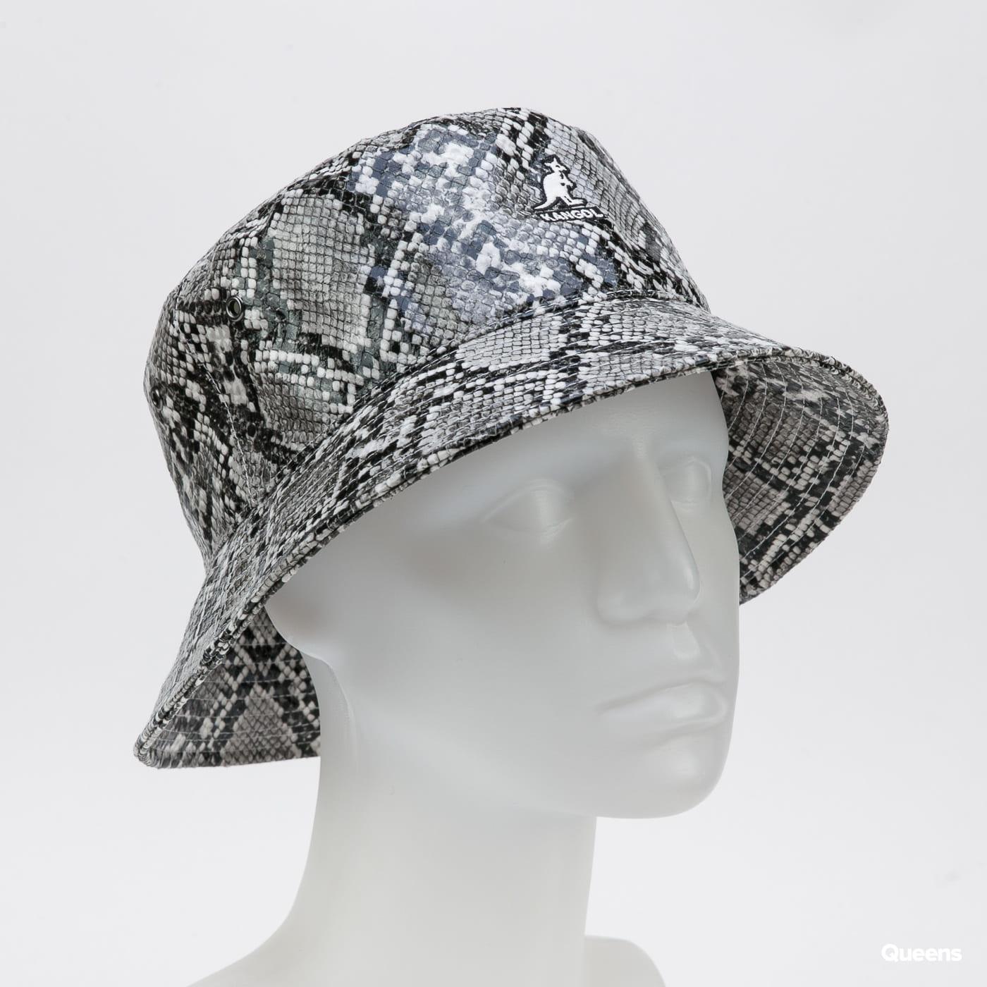 KANGOL Snakeskin Bucket grey / black / white