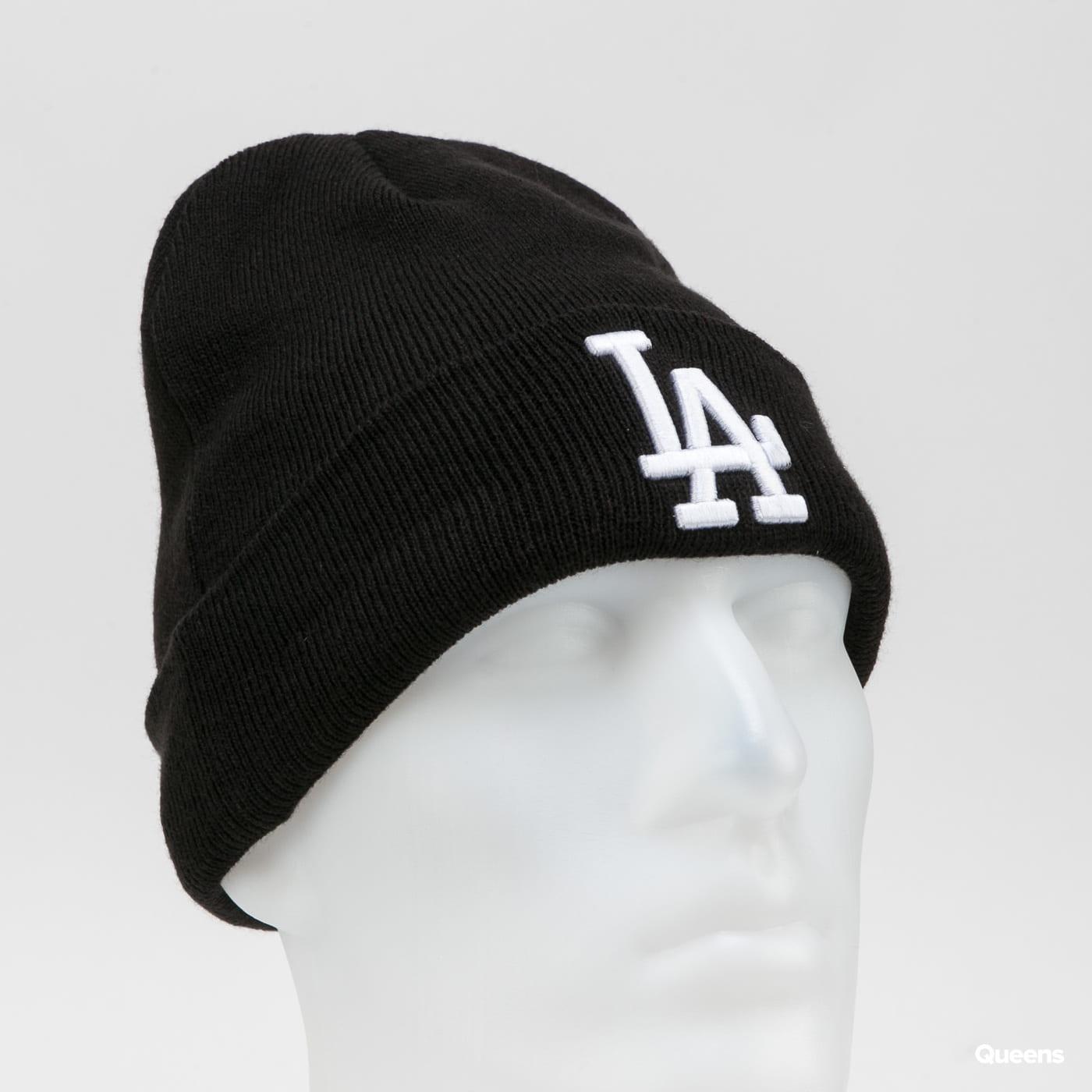 New Era MLB Essential Cuff Knit Beanie LA černý / bílý