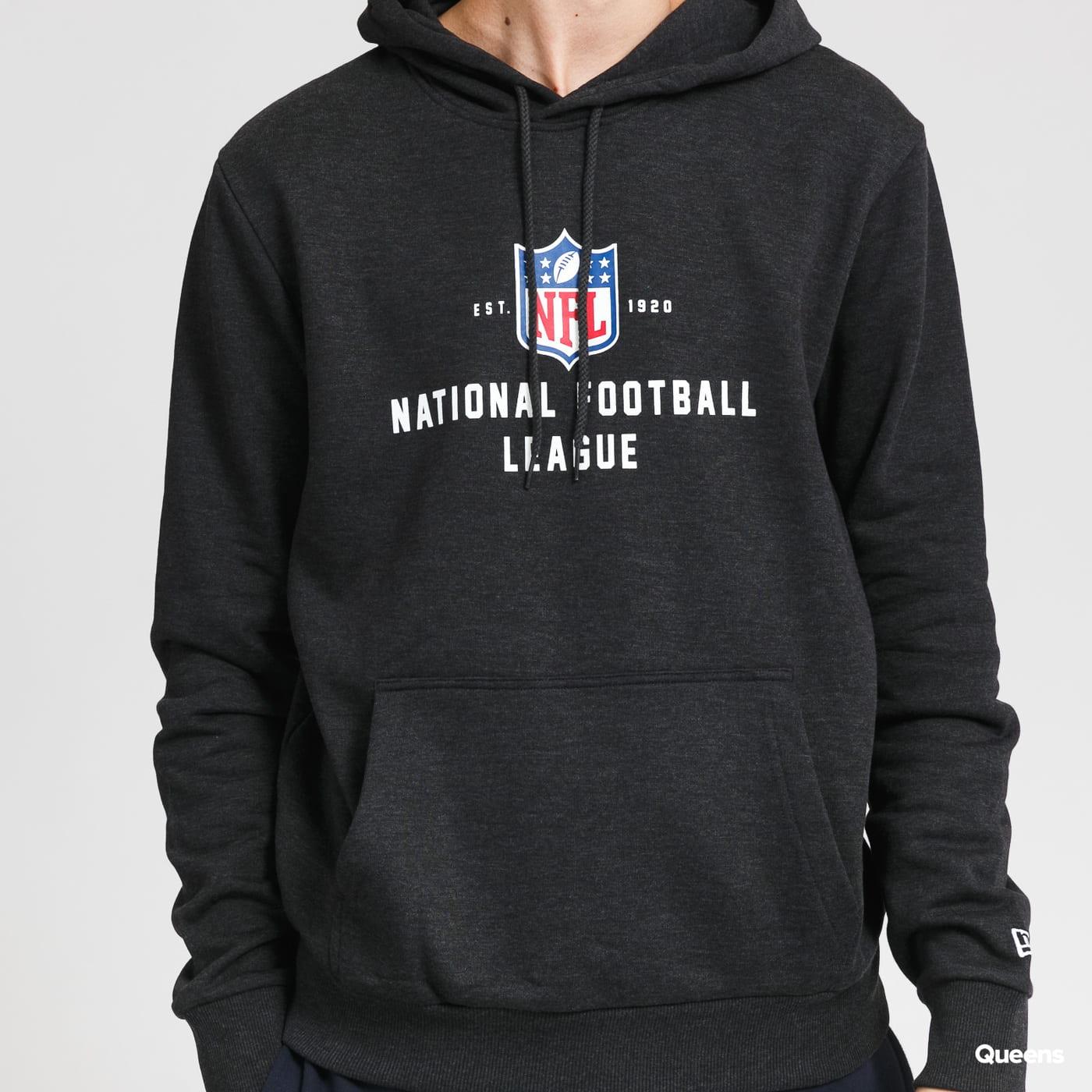 New Era NFL League Estabished PO Hoody melange černá