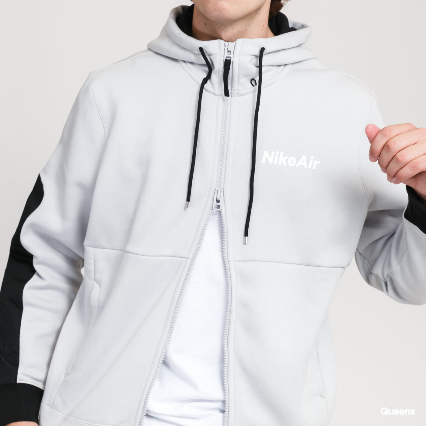 Nike M NSW Air Hoodie FZ gray