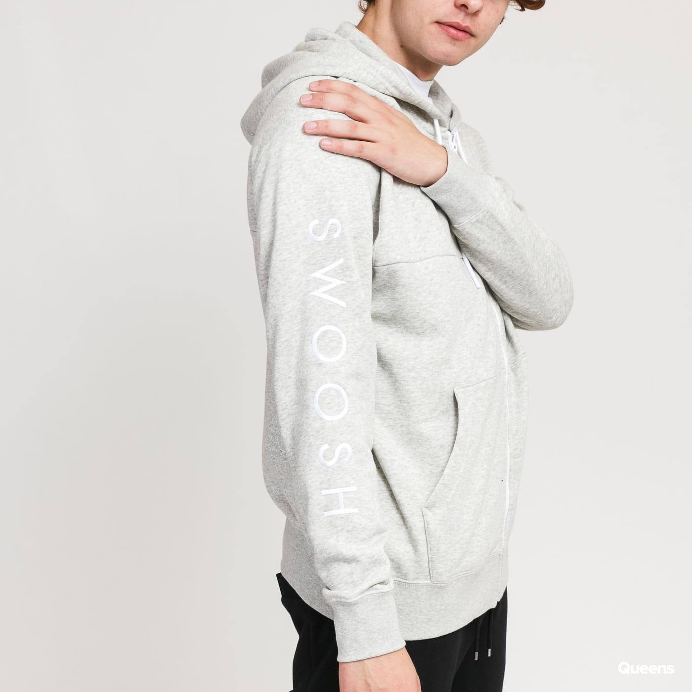Nike M NSW Swoosh Hoodie FZ SB melange light gray