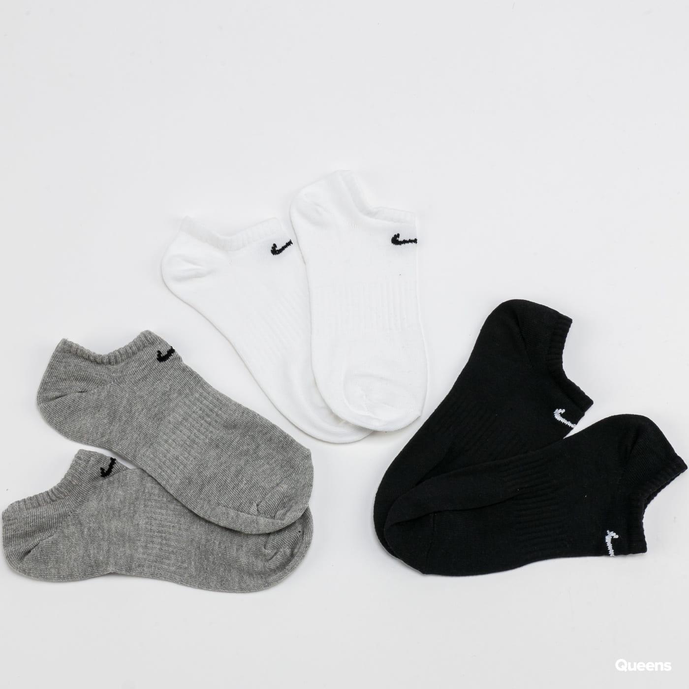 Nike U NK Everyday LTWT NS 3 Pack white / black / melange gray