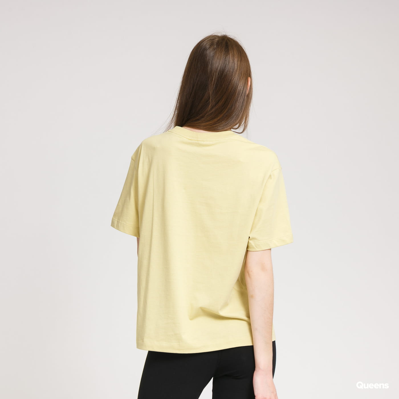 Nike W NSW Essential Top SS BF yellow green