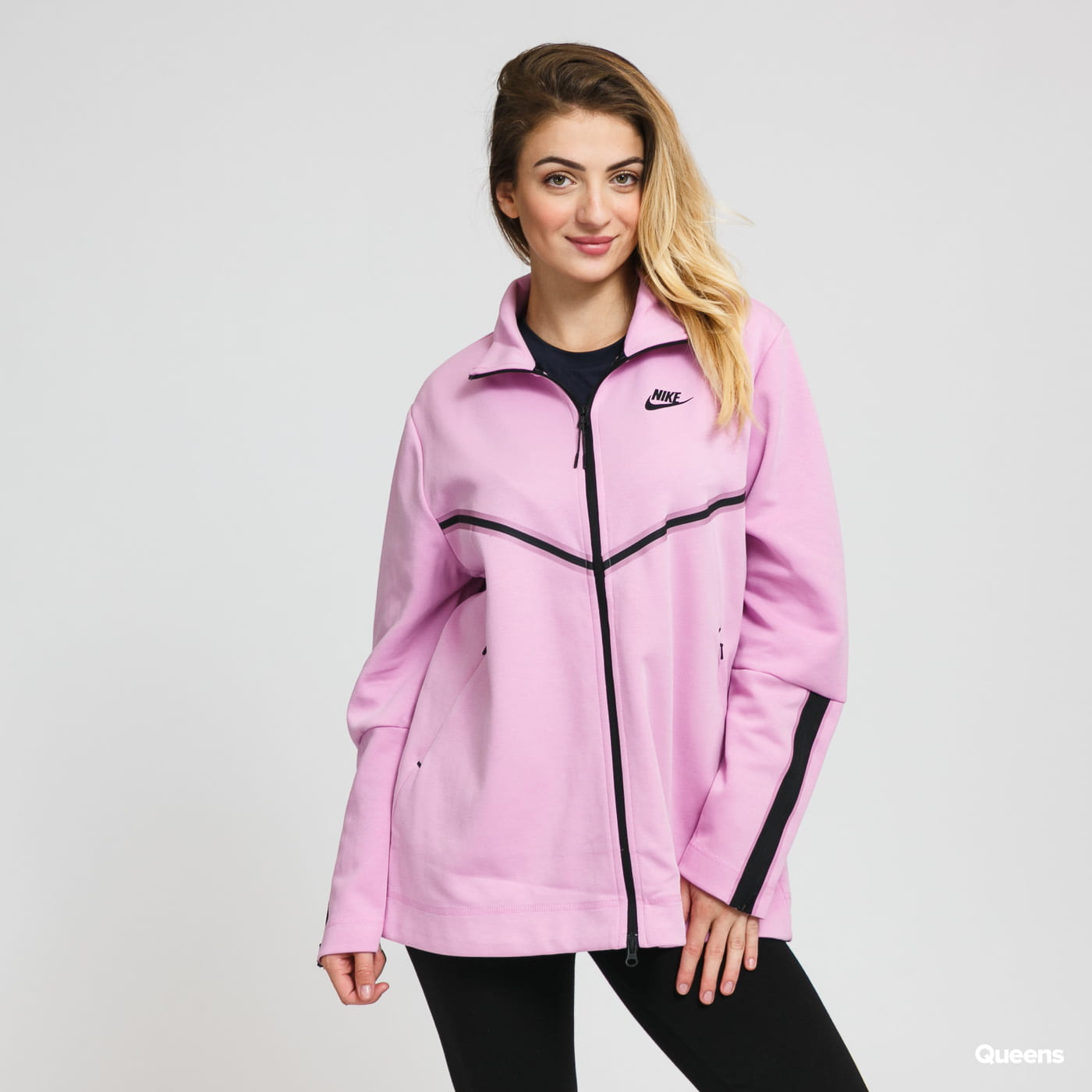 Nike W NSW Tech Fleece Long FZ light purple