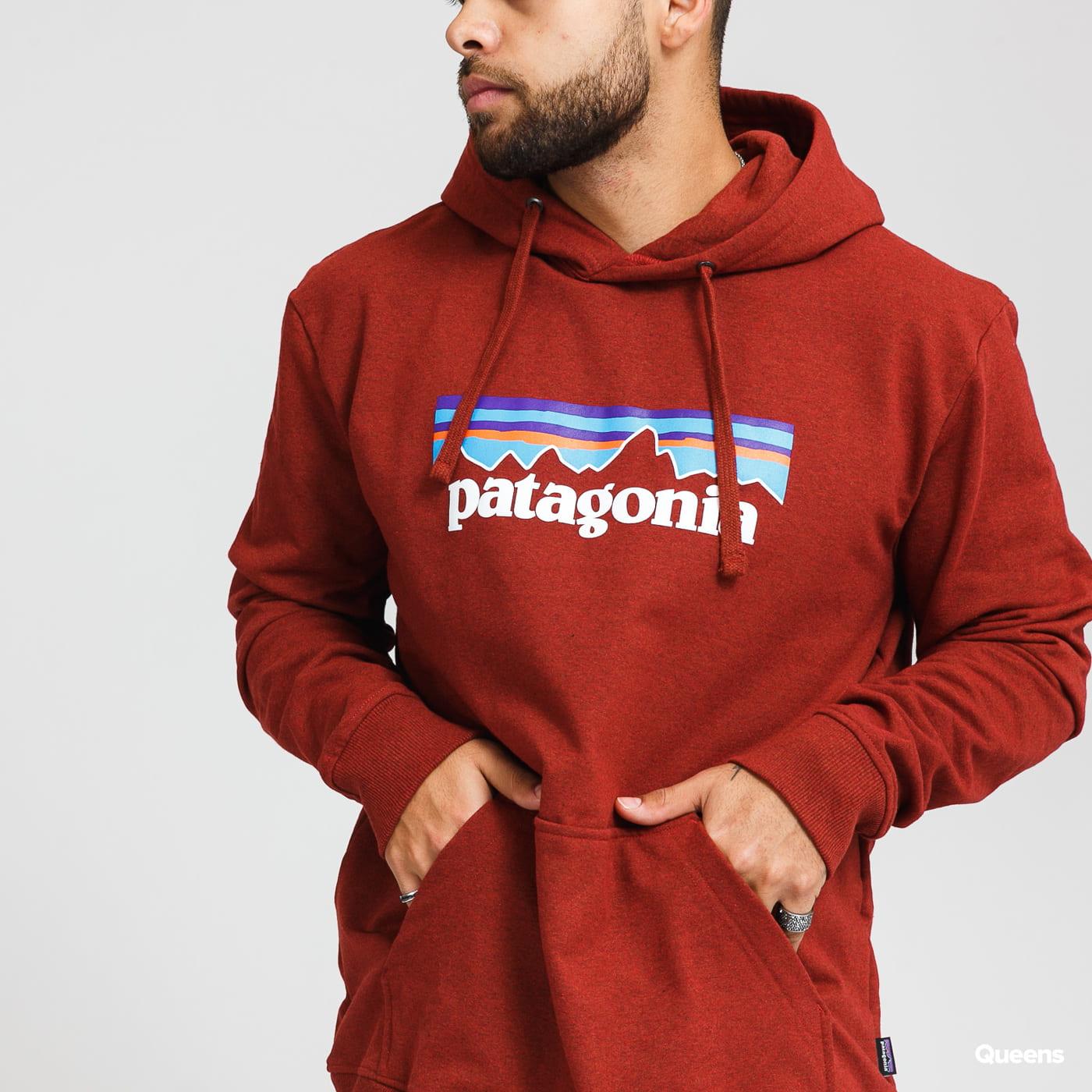 Patagonia M's P6 Logo Uprisal Hoody vínová