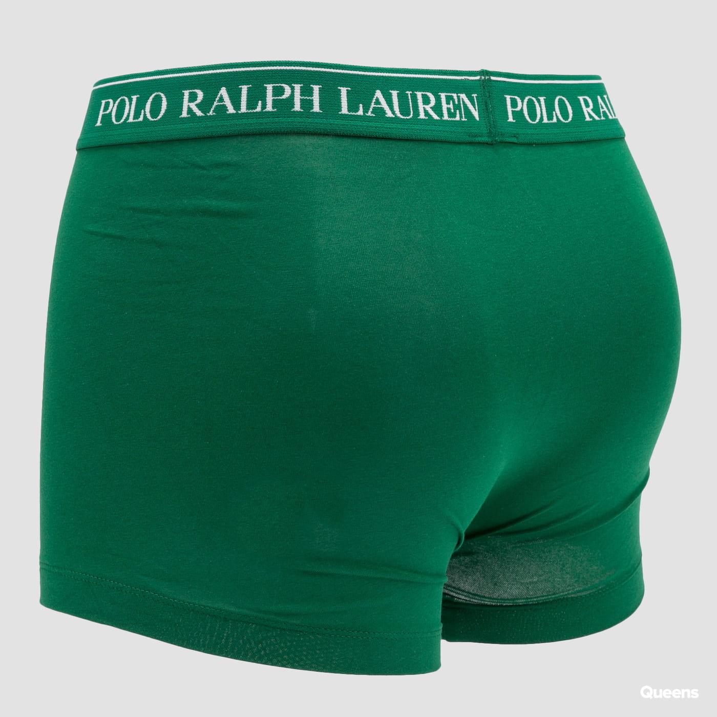 Polo Ralph Lauren 3Pack Stretch Cotton Classic Trunks černé / zelené / navy