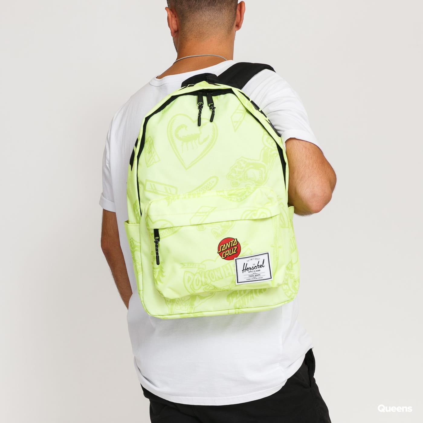 The Herschel Supply CO. Santa Cruz Classic XL Backpack limetkový