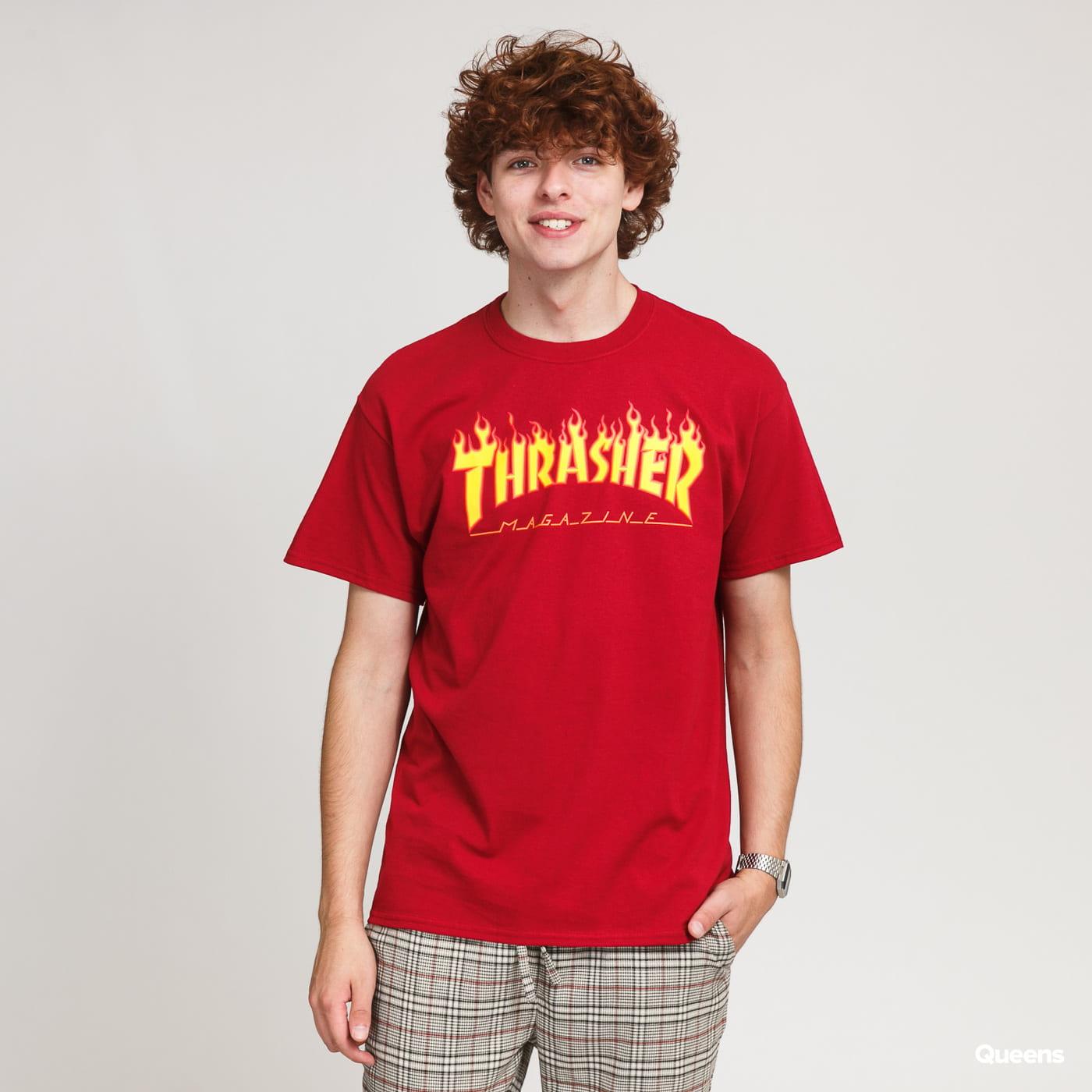 Thrasher Magazine Flame T-Shirt Authentic Flame Logo Short Sleeve Top Tee
